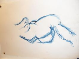 Watercolours - The Body by haileysthelimit