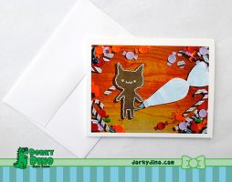 Gingerbread Cat Card by Strange-1
