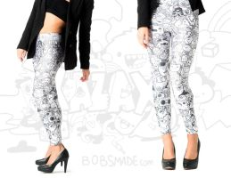Monster Doodle Legging by Bobsmade