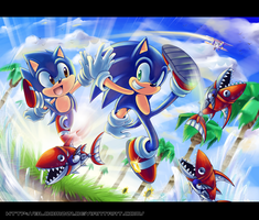 Sonic generations by BloomTH