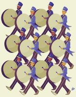 twelve drummers drumming by littlemotorcar