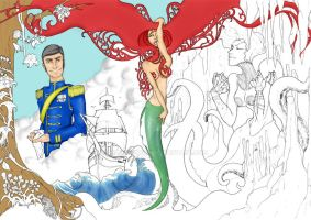 little mermaid by rubioworld