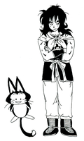 Yamcha and Pu'ar -Ink- by SonicWings