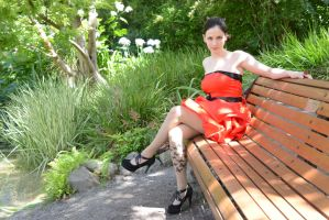 Red Satin 24 by Anariel-Stock