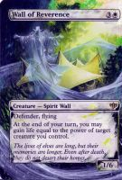 Magic Card Alteration: Wall of Reverence by Ondal-the-Fool