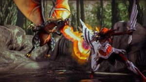 Countering the dragon - League of Legends by Cloudi5