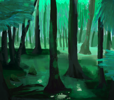 Landscape Study 1 - Swamp by SoSaucy