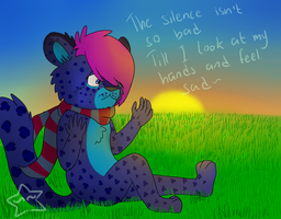 The silence isnt so bad by MannieTheLeopard