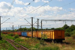 Colorful Freight Train by Sadguardian