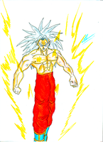 Dragon Ball Z - Super Saiyan GOD by kaiserkleylson