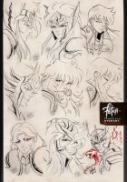 Animefriends 2015 Argentina_sketches by FranciscoETCHART