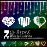 Brush - Hearts by Zimmette-Stock