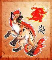 .Flame Hyena. by Fukari