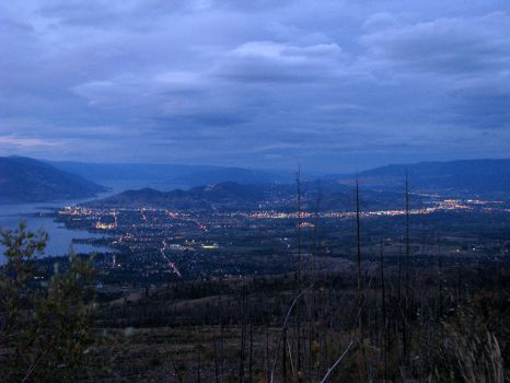 Valley at night by reticle2020