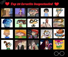 My Top 20 Favorite Bespectacled by Toongirl18