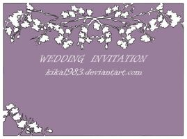 Wedding invitation design-commission by kika1983