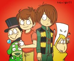 Kitaro Akumakun and friends by 4eknight11