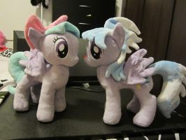 My little pony Cloudchaser and flitter Plushie by Little-Broy-Peep