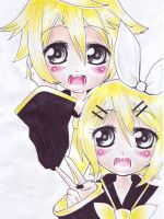 Vocaloid Rin and Len by BrokenDoll777