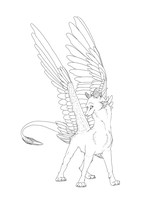 Check Out Muh Wings Lineart by xoXmusicislifeXox