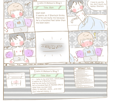 Sherlock - Height...and other things.. (Comic) by Benneh-Chan