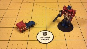 Micro Optimus Prime (Vehicle and Robot mode) by Dented-Rick