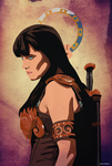 Xena, The Princess Warrior Vintage by MarceloDZN