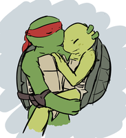 Raph x Mikey - Don't be scared, brother by Neos-mies
