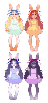 Bunny Chicks by Shellsweet