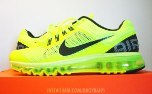 Nike Air Max 2013 'Volt' by BBoyKai91