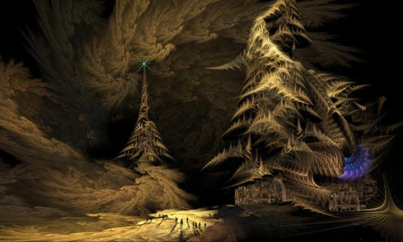 Night Land 5 Building the Lesser Redoubt by taisteng