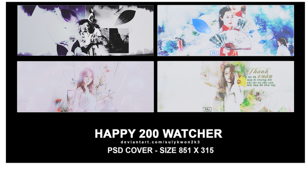 Happy 200 Watchers /// project /// by sulykwon2k3