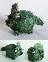 Dinosaur piggy bank by richardsymonsart