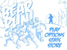iPad game main screen graphic sketch by 25thPixel
