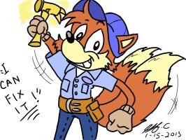 Tails as Fix it Felix by spongefox