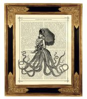 Steampunk Octopus Lady Kraken by curiousprintery