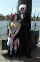 Sally and Jack Skellington by ArcaneArchery