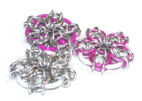 Chainmaille Coin Flowers - Ani by Jennifer-EA