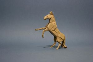 "Origami Horse ""neighing"" by GEN-H"