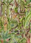 ACEO Deep in the jungle by Eternal-Rainbow