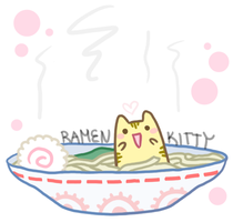 : Ramen Kitty : by ToxicOxygen