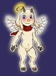Goatjesus Chibi Sticker by Viethra-Schepherd