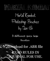 Mortal Kombat PS Brushes by watergal28-stock