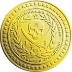 Gold Pirate Freedom Coin by JohnGWolf