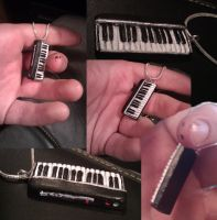 Piano Necklace by A-ku-ma