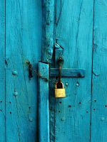 locked blue doors by awjay