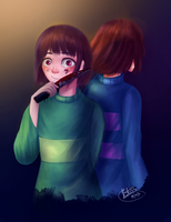 Undertale: Frisk And Chara by kavi-ar