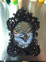 framed owl by sliceman424
