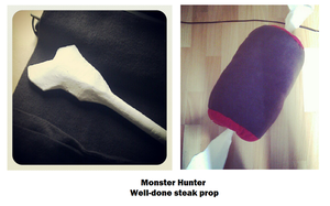 Cosplay progress - MH Well-done Steak by Grethe--B