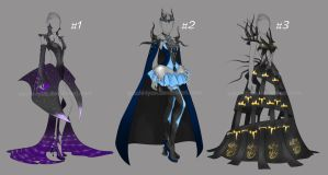 [2/3 Open] Auction Adopt Outfit Dark Dress by YuiChi-tyan